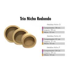 Combo 3 Trio Nicho Redondo MDF