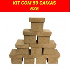 Caixa MDF 5x5 Kit 50 Unidades