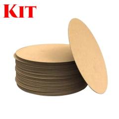 Kit 100 Sousplat MDF 35cm
