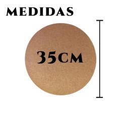 Kit 50 Sousplat MDF 35cm