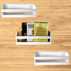 Kit 3 Organizador de Livros Parede